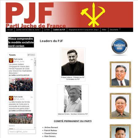 Le faux parti juche de france dprk yet another blog for Copie ecran